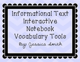 Interactive Notebook Vocabulary Templates