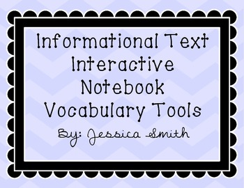 Interactive Notebook Vocabulary Templates