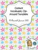 Content Vocabulary Zip Around Template