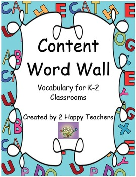 Content Word Wall: Vocabulary for K-2 Classrooms (CCSS K-2