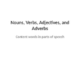 Content Words and Parts of Speech