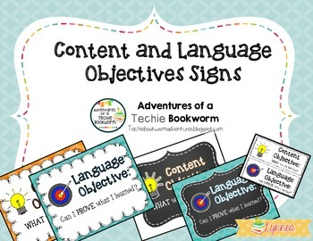 Content and Language Objectives Signs