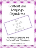 Content and Language Objectives for 2nd Grade ELLs