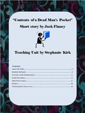 """Contents of a Dead Man's Pocket"" Short Story Analysis - Lesson Plan Bundle"
