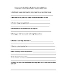Contents of a Dead Man's Pockets- Guided Reading Handout