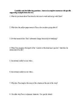 Contents of the Dead Man's Pocket - Comprehensive Study Guide - CCSS Aligned