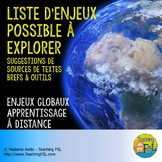 Contenu annoté : Enjeux globaux - Immersion Distance Learning