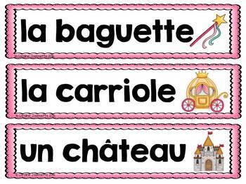 FRENCH Fairy Tale Word Wall Cards / Contes de fée - Mots-étiquettes