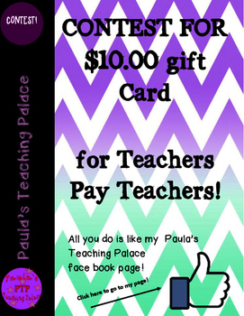 Contest for a $10 gift card!