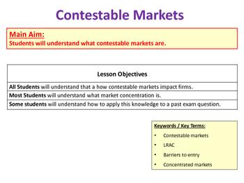 Contestable Markets & Market Concentration - A-Level Economics / Microeconomics