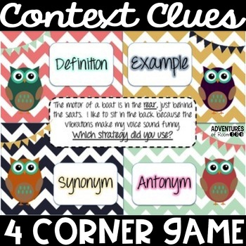 Context Clue 4 Corner Game