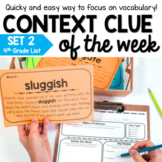 Context Clue Activities - Distance Learning