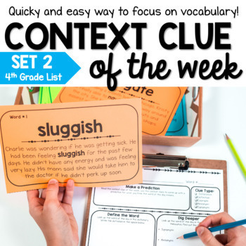 Digital and Print Context Clue Activities - Distance Learning