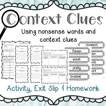 Context Clue Activity