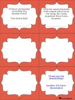 Context Clue Cards