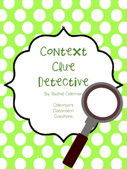 Context Clue Detective Freebie