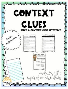 Context Clue Detective Teaching Pack