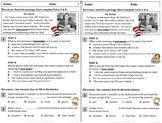 NEW!  Free Context Clue ELA Reading Drill / Exit Slip