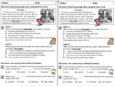 NEW! Context Clue ELA Reading Drill / Exit Slip