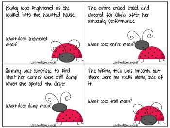 Context Clue Ladybugs