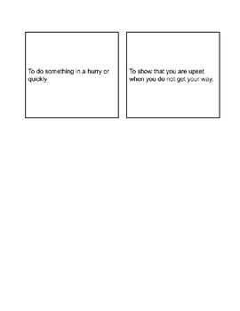 Context Clue Match Up Answer Cards
