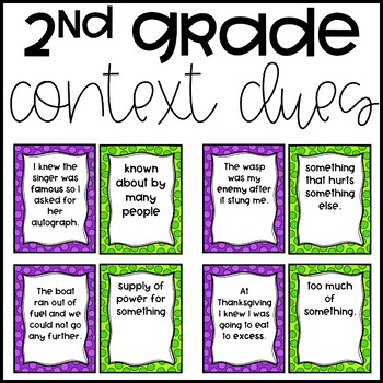 Context Clue Matching (2nd Grade)