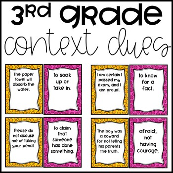 Context Clue Matching (3rd Grade)