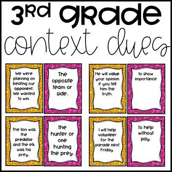 Context Clue Matching (3rd Grade)