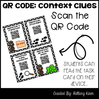 Context Clue Mysteries (QR Code Activity: 3rd and 4th Grade)