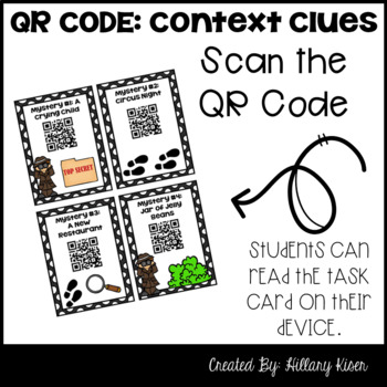 Context Clue Mysteries (QR Code Activity: 5th and 6th Grade)