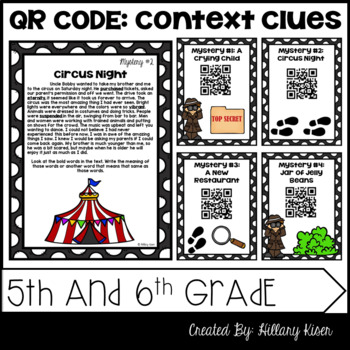 Context clues 5th grade teaching resources teachers pay teachers qr code context clues 5th and 6th grade fandeluxe Gallery