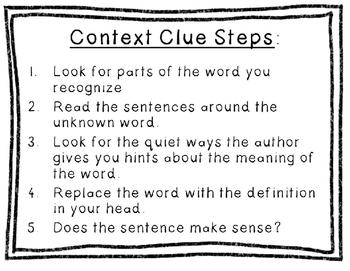 Context Clue Poster