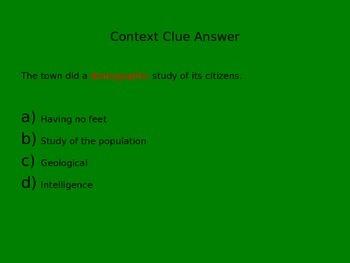 Context Clue PowerPoint