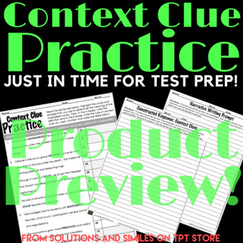 Context Clue Practice with SAT Words!
