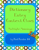 Context Clue Practices with Dictionary Entry for Multiple Meaning Words Testing