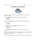 Context Clue Quiz