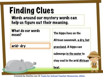 Reading Comprehension Context Clue Safari