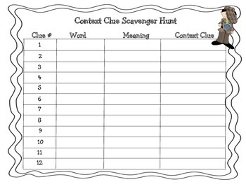 Context Clue Scavenger Hunt