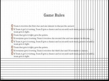 Context Clue Sentence Game