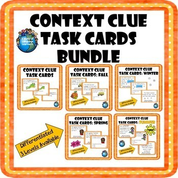 Context Clue Task Card Bundle