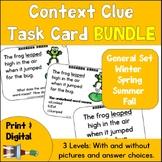 Context Clue Task Card Bundle