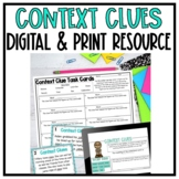 Context Clues Task Cards - A Print & Digital Resource
