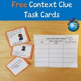 Free Context Clue Task Cards