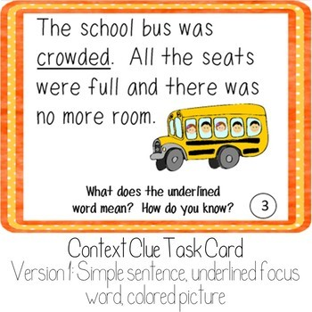 Context Clue Task Cards: Fall
