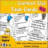 Context Clue Task Cards Spring