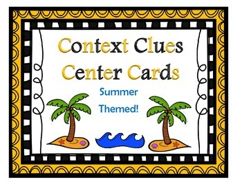 Context Clue Task Cards: Summer Themed!