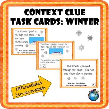 Context Clue Task Cards: Winter