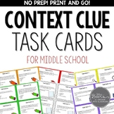 Context Clue Task Cards for Middle School | Google Classroom | Distance Learning