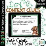 Context Clues Task Cards: Digital Vocabulary Activities for Google Use