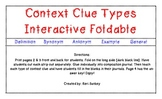 Context Clue Types Interactive Foldable